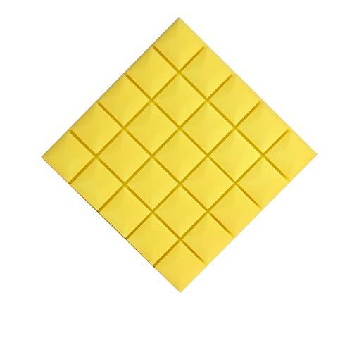 GAOAIHONG Paquete De 10 Paneles Acústicos De 50x50x3cm, para Estudio Acústico, Insonorización, Paneles De Pared De Espuma(Color:Amarillo)