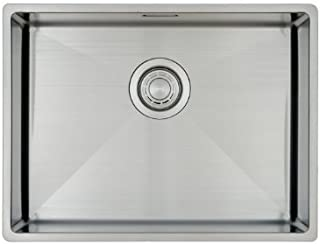 Fregadero de Cocina Copa Design 500-370   Acero Inoxidable 304   Mueble de 60 cm   Montaje Bajo o Sobre Encimera o al Ras   Radio 10mm   1 Seno