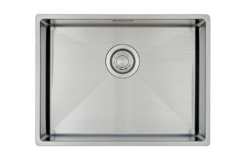 Fregadero de Cocina Copa Design 500-370 | Acero Inoxidable 304 | Mueble de 60 cm | Montaje Bajo o Sobre Encimera o al Ras | Radio 10mm | 1 Seno