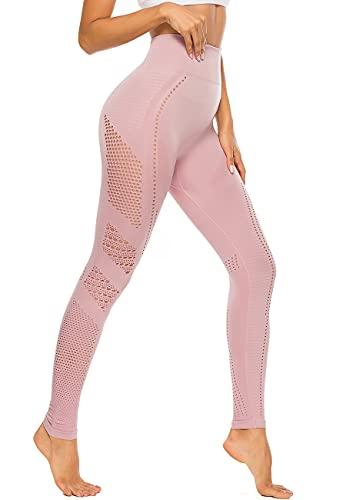 SEASUM Leggins Sportivi da Donna Senza Cuciture Vita Alta Pantaloni Hollow out Elastici...