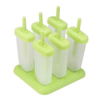 Popsicle Molds Maker, Reusable Ice Pop Molds Tr...