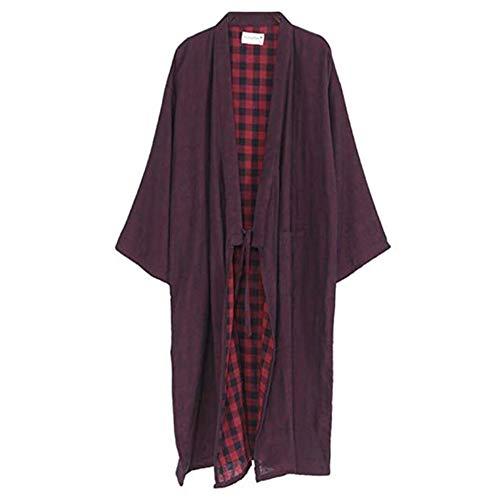 Fancy Pumpkin Kimono japonés Robe Long Yukata Pijamas-Talla L-10