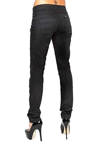 Lost in Paradise Damen Jeans Hose Crown Slim - eleganter Aber bequemer Slim Schnitt - perfekt für den Sommer, Schwarz, 27W / 32L