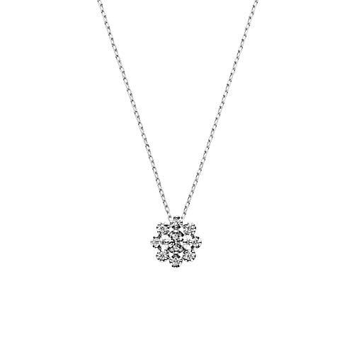 [ヴァンドーム青山] プラチナ ネックレス APVN202240DI フラワー ダイヤモンドネックレス