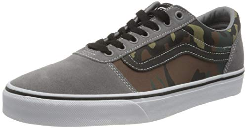 Vans Herren Ward Canvas Sneaker, Gemischt Camo Frost Grau Weiß , 42 EU (8 UK )
