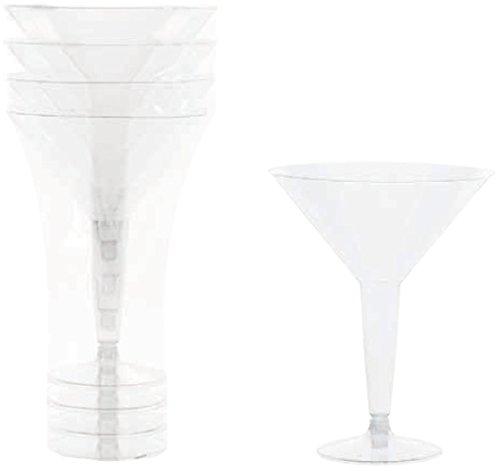 DDI 1883025 250 ml Martini Clear Plastic Glasses Case of 36