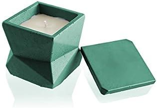 شمعة كانديلينا كاندل فورت الخرسانة - حديثة III- أخضر تمساح ، الرائحة: له