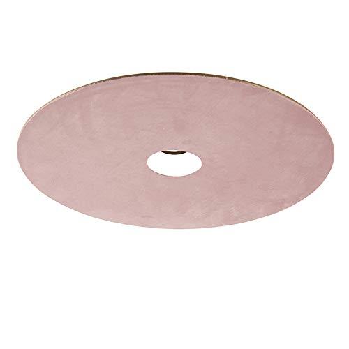 QAZQA Velours platte lampenkap roze met goud 45 cm, hang kap