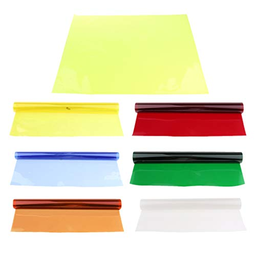 7 Stück Korrektur Gel Filter Overlays Transparenz Farbe Film Kunststoffplatten Gel Beleuchtung Filter 40x50 cm