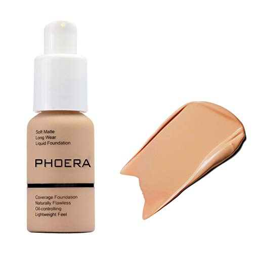 Ownest Matte Phoera Foundation Cream,Full Coverage Oil Control Long Lasting Waterproof Matte Concealer Liquid Foundation Cream,104 Buff Beige-30ml