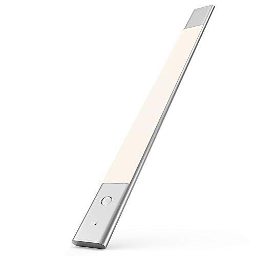 EZVALO Schrankleuchte LED mit Bewegungsmelder 60cm | Aufladbare Schrankbeleuchtung Touch dimmbar | Magnetischch Schranklicht für Küche Kinderzimmer Schublade Treppe - Neutralweiß 4000K