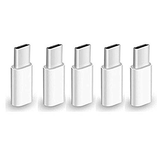 Demarkt–USB C adaptador a Micro USB [5unidades] USB 3.1tipo C a Micro USB Adaptador para Samsung Galaxy S9S8Note 8A5, Huawei P9, P10, MacBook Pro 2016