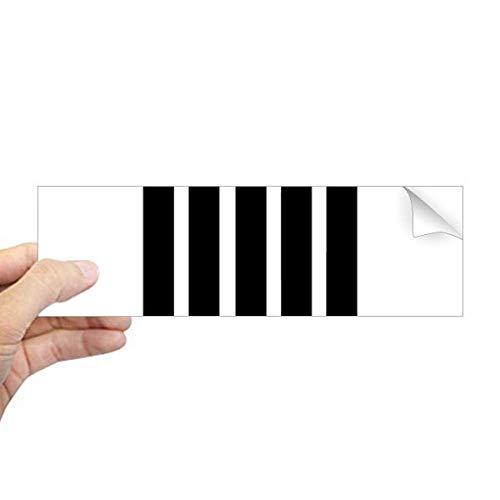 DIYthinker Romeinse cijfers Acht In Zwart silhouet Rechthoek Bumper Sticker Notebook Window Decal