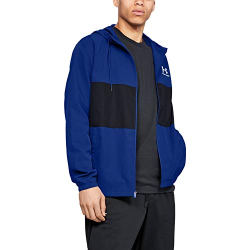 Under Armour Men's Sportstyle Wind Jacket , Royal (400)/Onyx White , 3X-Large