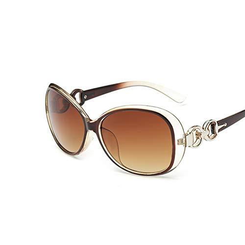 DNAMAZ Nuevas Gafas de Sol ovaladas de la Vendimia Mujeres Retro Lente Claro Gafas de Sol Redondo Classic Gafas para Mujer (Lenses Color : Brown)