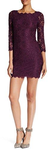Diane von Furstenberg Zarita Dress Brazen Plum (10, Brazen Plum)