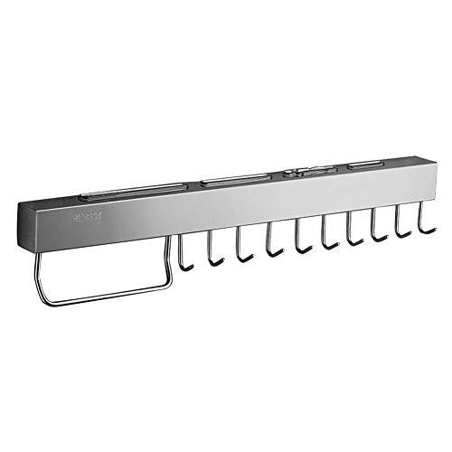 Liery Stanzfreier Küchenwerkzeughalter 304 Aus Edelstahl Zum Aufhängen Eines Schneidwerkzeugs Mit Abnehmbarem Haken