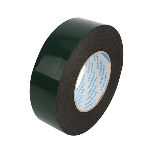 Cinta de doble cara, cinta de espuma, 10 m, súper fuerte, resistente al agua, resistente, práctico, negro para el hogar, autocaravana, caravana, coche