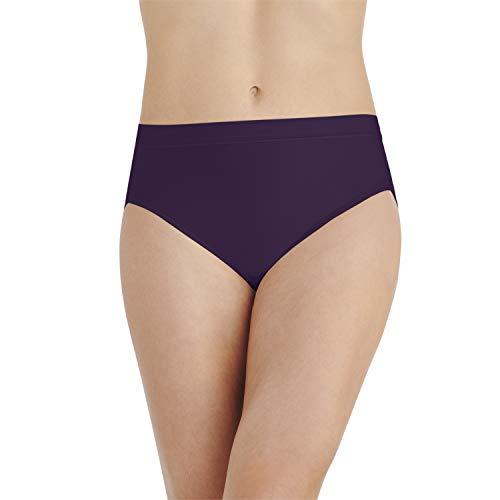 Vanity Fair Women's Light and Luxurious Hi Cut Panty 13195, Deep Mulberry, 2X-Large/9