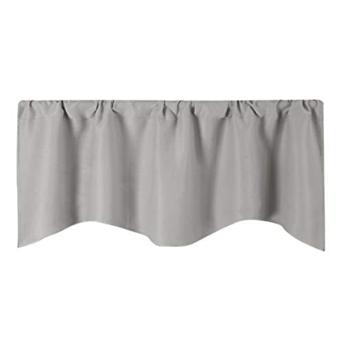 LIOOBO Faldón para cortinas – Cortinas para muebles pequeños – Cortina de cocina corta – cenefa opaca con aislamiento térmico (132 x 46 cm)