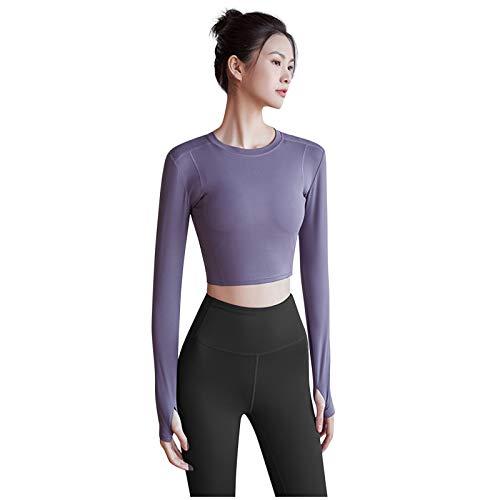 riou Pantalones Ajustados Elásticos de Cintura Alta para Mujer Traje de Color sólido Deportes Leggings Push Up Levantamiento de Cadera Conjunto de Yoga