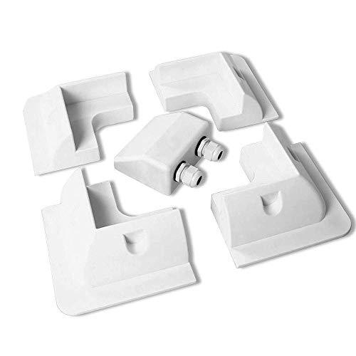 ZHITING Support Panneau Solaire Coin 4 angles et presse-étoupe à double câble pour caravanes de camping-cars