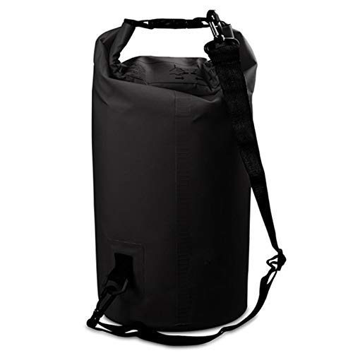 Taoke Esterna Impermeabile Singola Spalla Sacchetto Dry Sack Barrel Bag, capacità: 15L (Nero) 8bayfa (Color : Black)