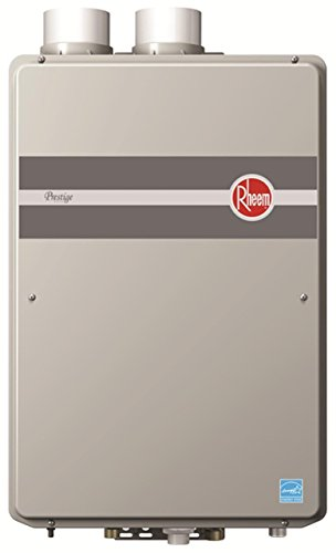Rheem RTGH-90DVLN Prestige Indoor Condensing Ultra Low NOx Natural Gas Tankless Water Heater, 9.0...