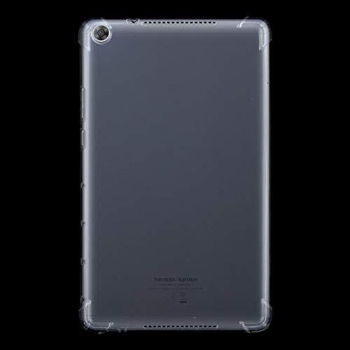 XHEVAT Funda protectora para tablet Huawei Mediapad M5 de 8 pulgadas a prueba de golpes transparente TPU