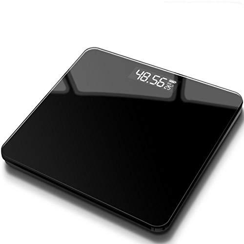 B/H Báscula de baño Digital,Balanza electrónica-Negro Puro_Modelos de batería,Escala Personal Digital Inteligente,