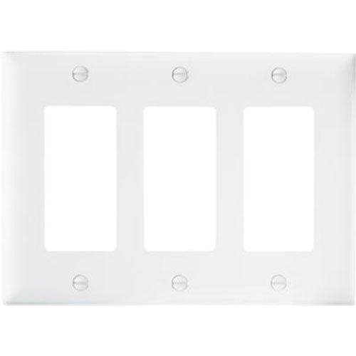 PASS & SEYMOUR TP263WCC12 WHT 3G Nyl Wall Plate, White