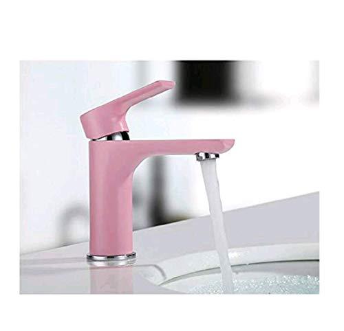 Retro Deluxe Fauceting Kostenloser Versand Euro Pink Luxus Badezimmer Waschbecken Wasserhahn kleine einzigen Griff mit Diamond Waschbecken Mixer Leitungswasser, Rosa