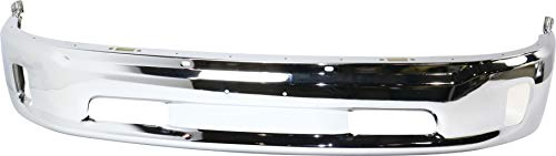 Front Bumper Compatible with 2013-2018 Ram 1500 Lower Chrome 2-Piece Bumper Type with Fog Light Holes All Cab Types