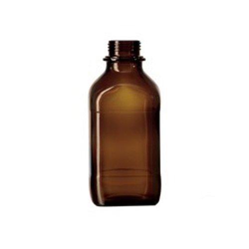 neolab 2–1378–Cuadrado Tornillo de botellas, enghals, 1000ml, marrón cristal (10unidades)
