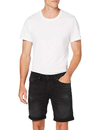 JACK & JONES Herren JJIRICK JJICON GE 010 I.K STS Shorts, Black Denim, L