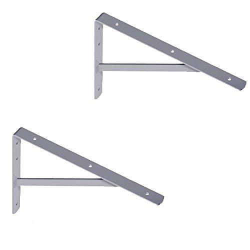 wohnfreuden 2er Set Winkel Wandkonsole für Waschtischplatten verzinkt 40x27 cm
