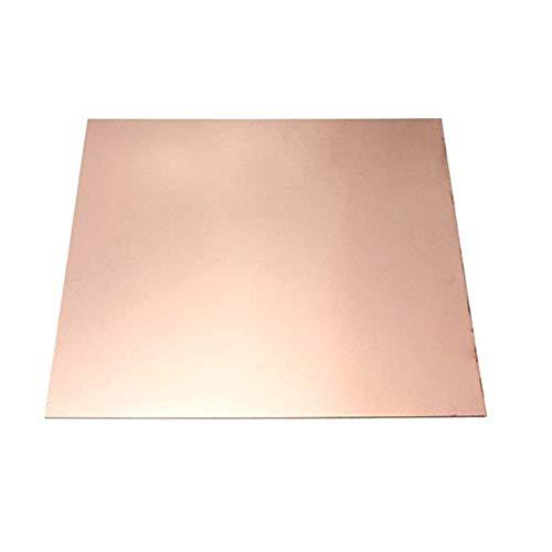 SOFIALXC Hoja de metal de cobre puro 99,99% para artesanía aeroespacial de 0,2 mm de grosor