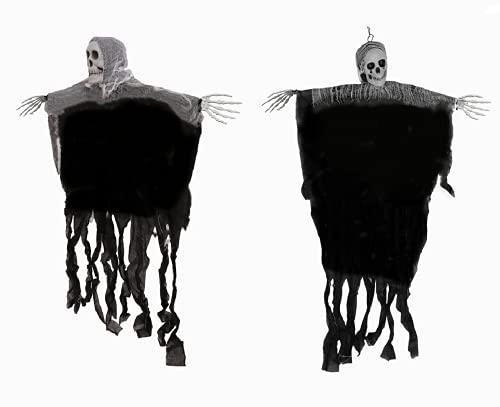 Halloween Deko, Halloween Skelett Deko Gespenst Hängend Herrlich Gruselig Halloween Deko Horror Figuren für Halloween Mottoparty