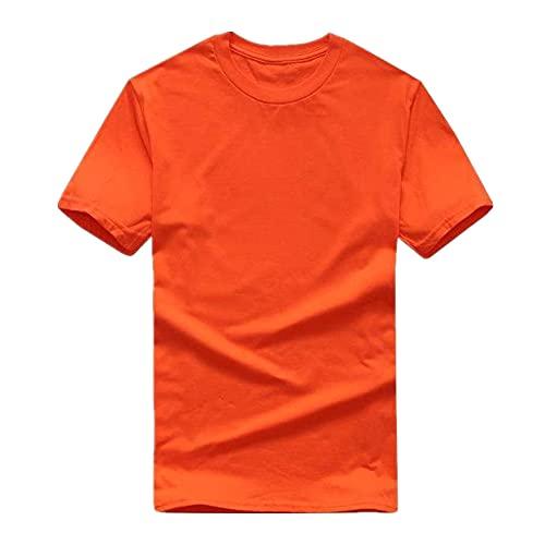N\P Camiseta de manga corta de color sólido para hombre