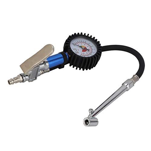 Medidor de inflado de neumáticos, pistola de presión de aire, aleación, precisión, fiabilidad, alto rendimiento, presión de los neumáticos para medir