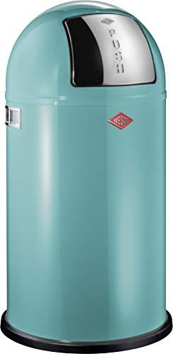 WESCO 175831-54 Pushboy Poubelle Turquoise 40 x 40 x 75 cm 50 l