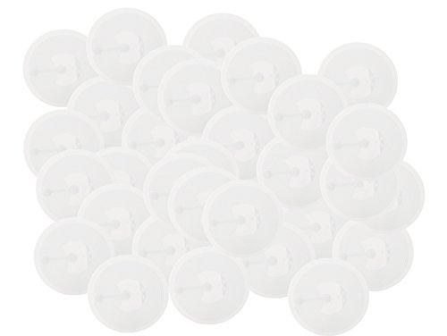 mächtig der welt Kompatibel mit NFC Tag 215 Kleber, 50 Stück, 30 mm weiß,… wie in Amiibo gezeigt.