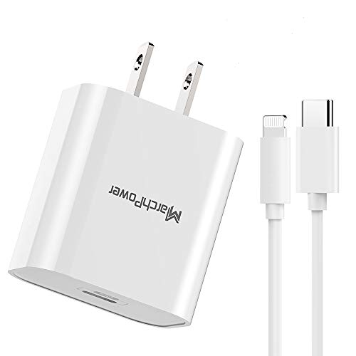iPhone Fast Charger - MFi Certified - 18W Type C Power Adapter Wall Plug with 6ft C to Lightning Cable Quick Charge Sync Cord Compatible with iPhone 12 SE 11 Pro MAX X XS XR 8 AirPods Pro iPad (2020)