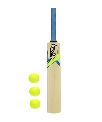 PMG Junior Combo of 1 Cricket Bat with 3 Tennis Balls for Kids, 9-11 Years (Sticker May Vary)