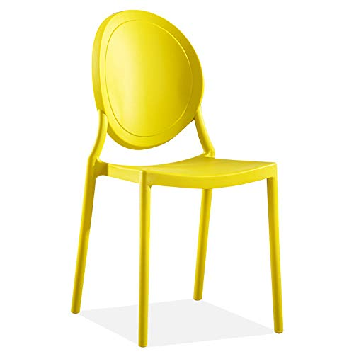 Ybzbx Barhocker Kunststoff Kunststoff Ghost Nordic M?Bel Kreative Freizeit Zurück PP Devil Dining Chair Geeignet Für Die Aufnahme Von G?sten