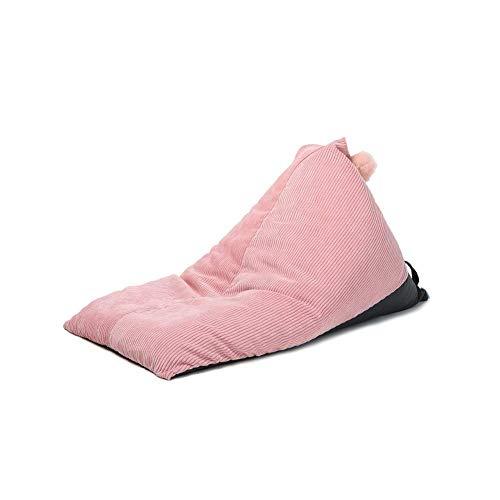 JSONA Sitzsackbezug aus Cordstoff, weicher Stoffbezug Staubdichter Sitzsackbezug Stuhl Plüsch Spielzeug Aufbewahrungsbezug Kinder Wohnzimmer, ohne Füllstoff, 60X100x65cm (23.6X39.4X25.6IN), Pink