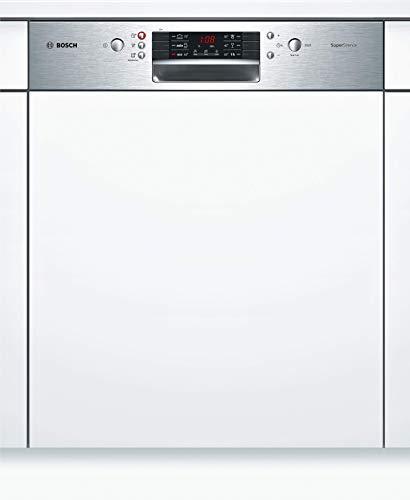 Bosch SMI46IS04E Serie 4 Geschirrspüler Teilintegriert / A+++ / 60 cm / Edelstahl / 234 kWh/Jahr / 13 MGD / SuperSilence / Extra Trocknen / VarioBesteckkorb