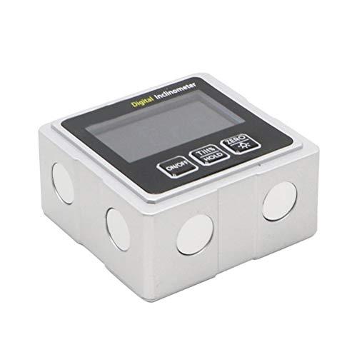 RongWang Magnética de Nivel Digital electrónico Goniómetro inclinómetro del prolongador del inclinómetro con el contraluz con 3 imanes Laterales