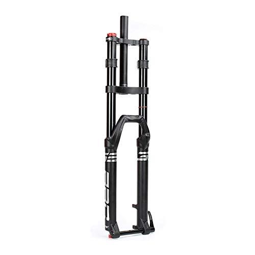 YQQQQ Horquilla de suspensión MTB Downhill 27.5 pulgadas 29 pulgadas bicicleta doble hombro aleación de aluminio viaje: 150 mm (tamaño: 27.5 pulgadas)