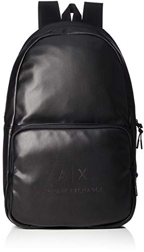 ARMANI EXCHANGE Logo Backpack - Zaini Uomo, Nero (Black/Gun Metal), 20x13x26 cm (B x H T)